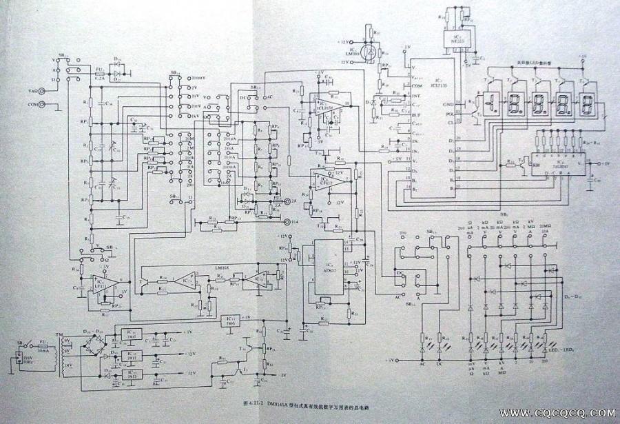 部分数字万用表电路图集
